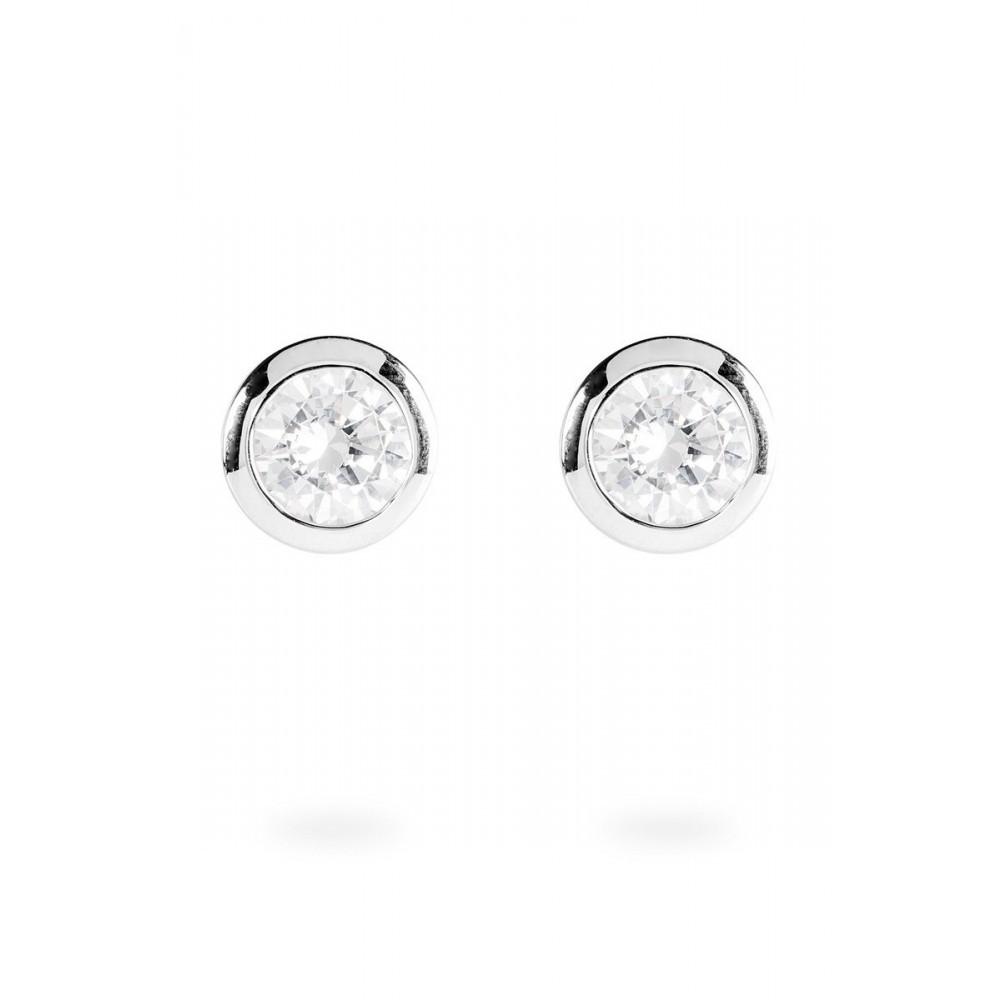 Zilveren oorknoppen Solitair 806.0043.00