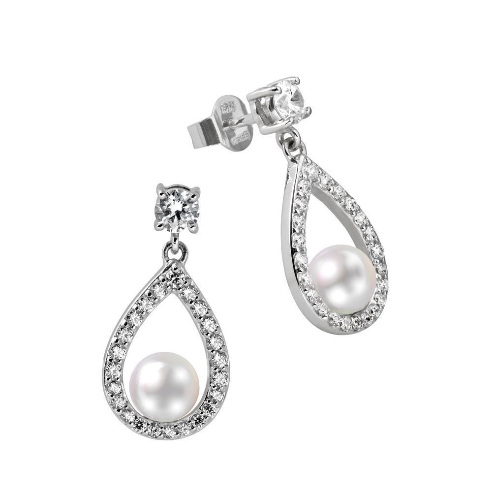 Zilveren oorknoppen Bridal 808.0162.00