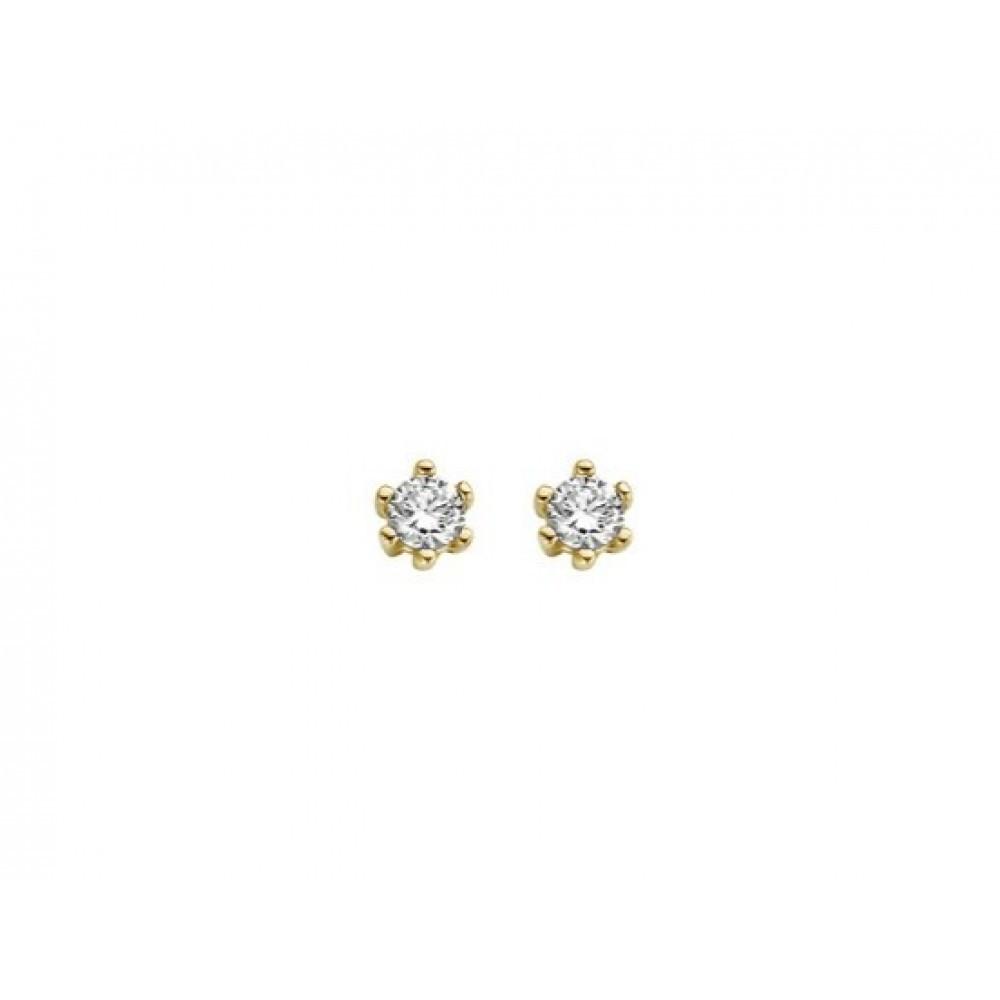 Gouden oorknoppen met zirkonia I5CE2852-FCZ