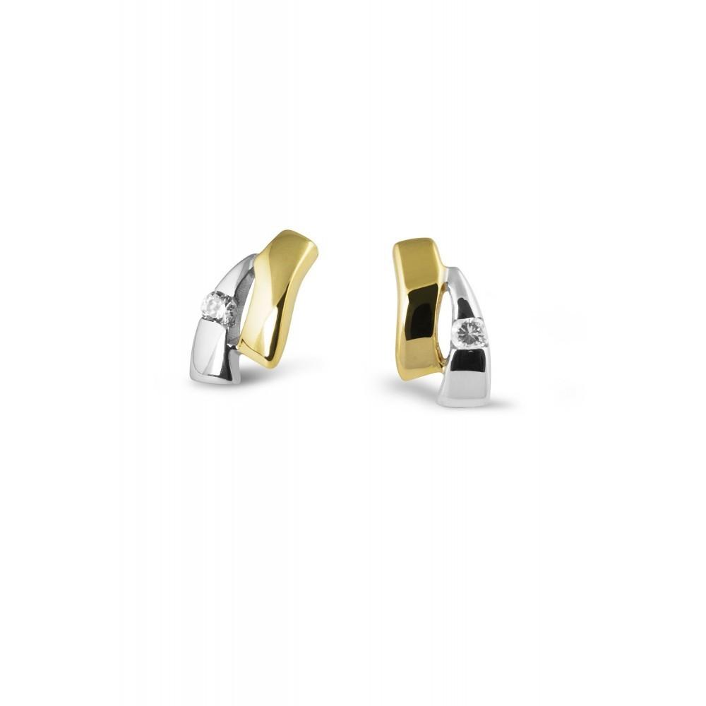 Gouden oorknoppen met zirkonia VXCE203423FCZ