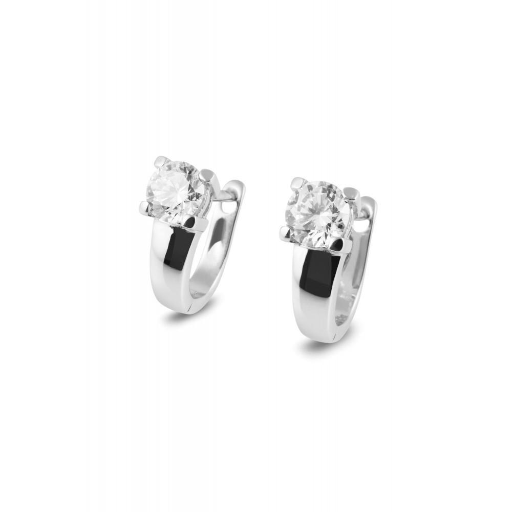 Zilveren creolen met zirkonia TBO59848-01