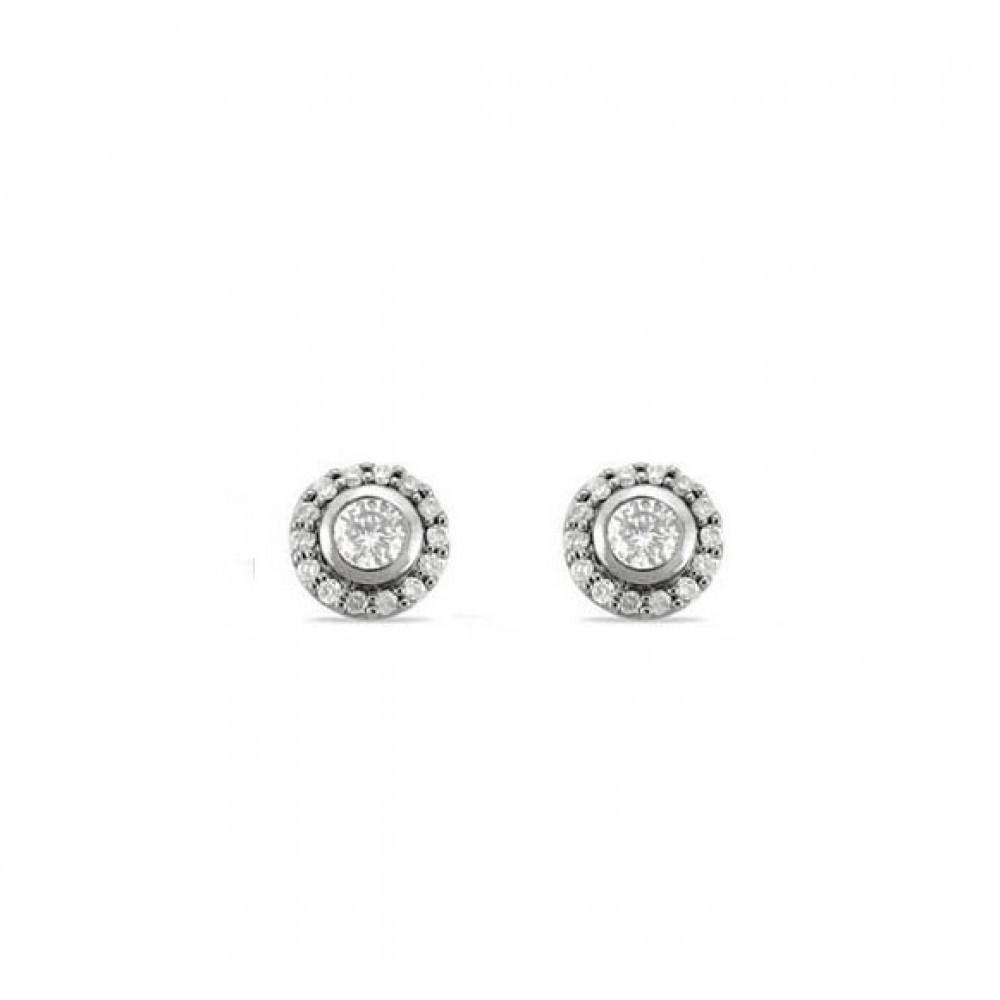 Witgouden oorstekers met diamant 05672EF0025