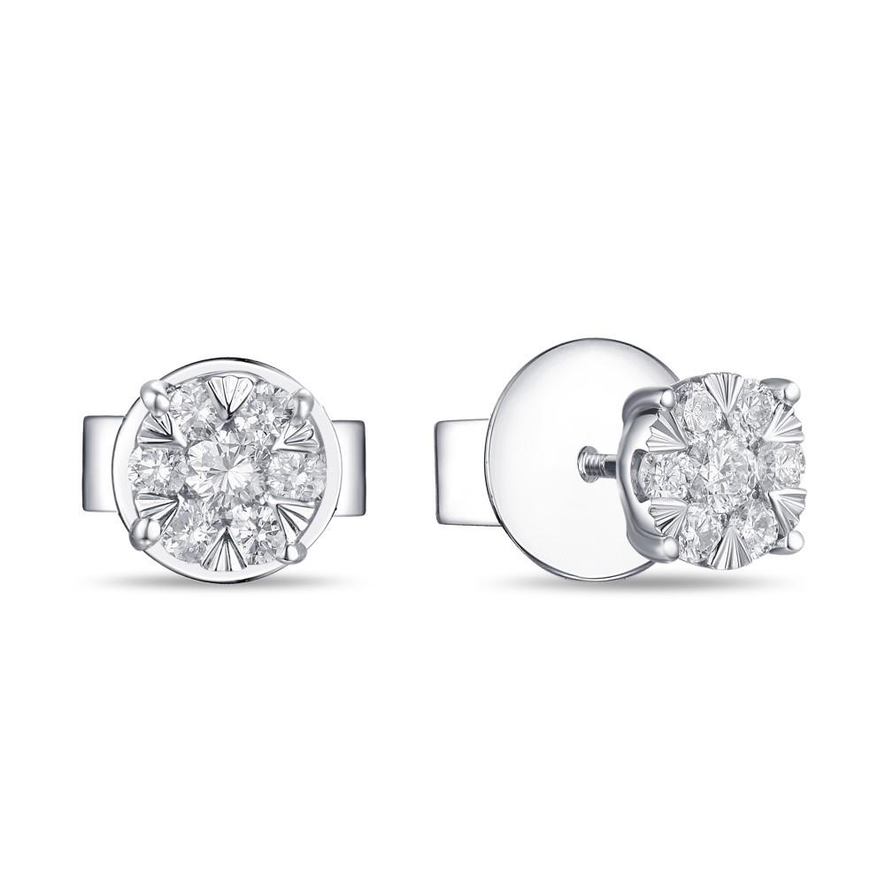 Witgouden oorknoppen met diamant 1851359BXD