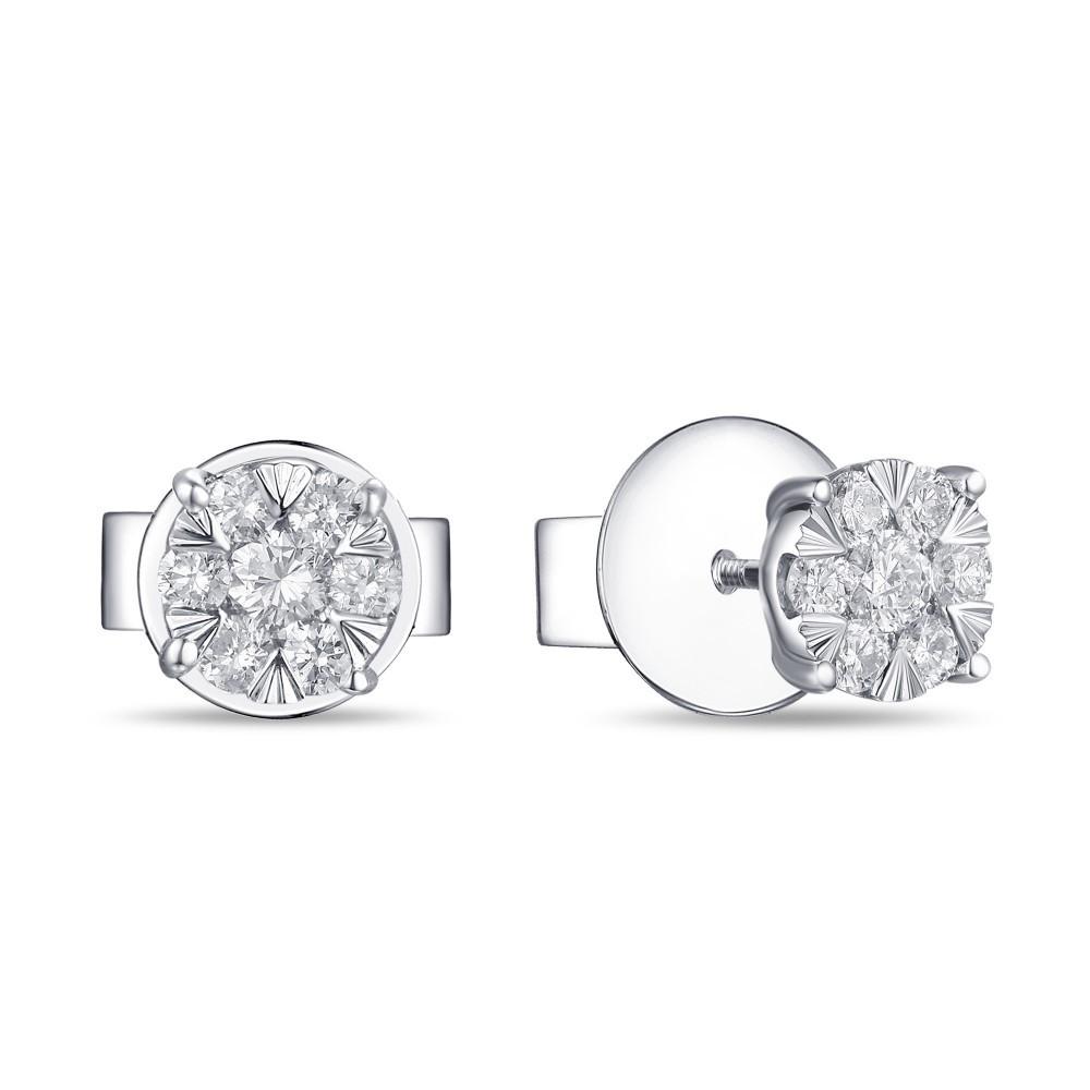 Witgouden oorknoppen met diamant 1851360BD