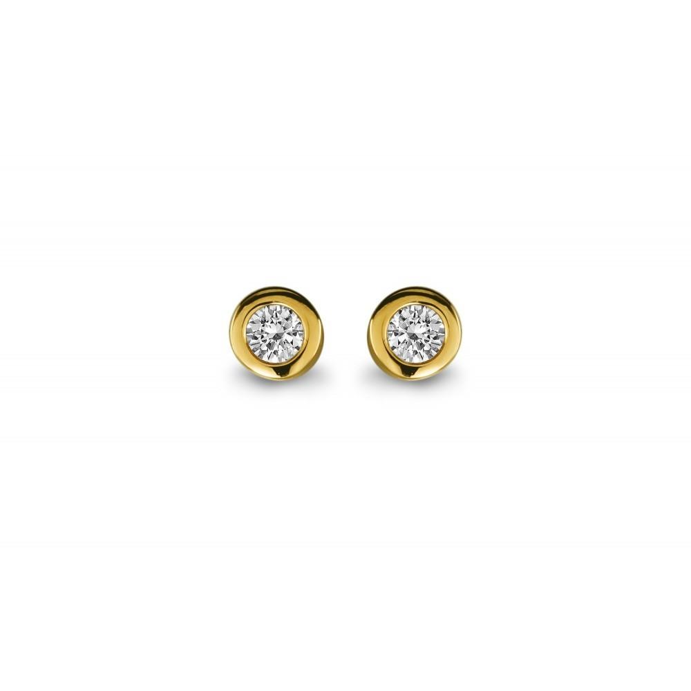 Gouden oorknoppen 0,30crt SOL-Y931-015-G2