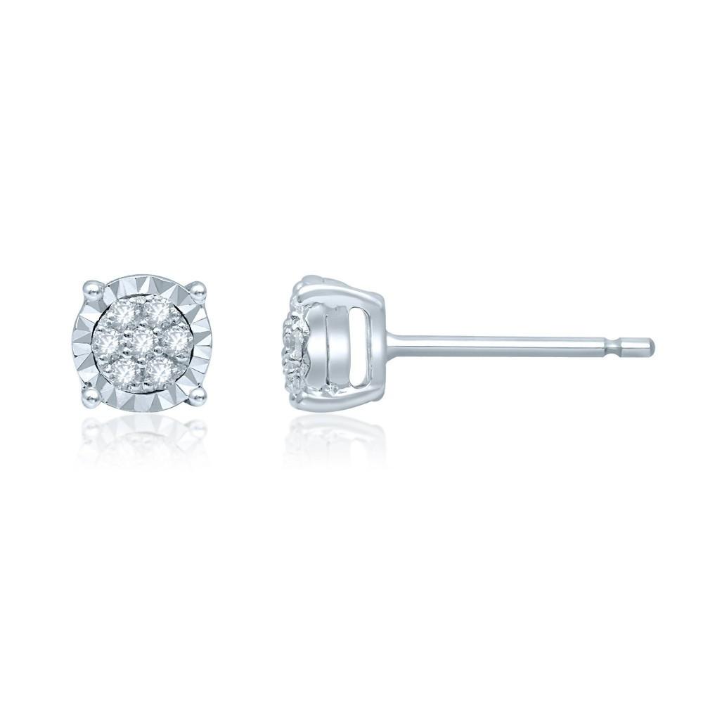Witgouden oorhangers met diamant CQMOD178344-G