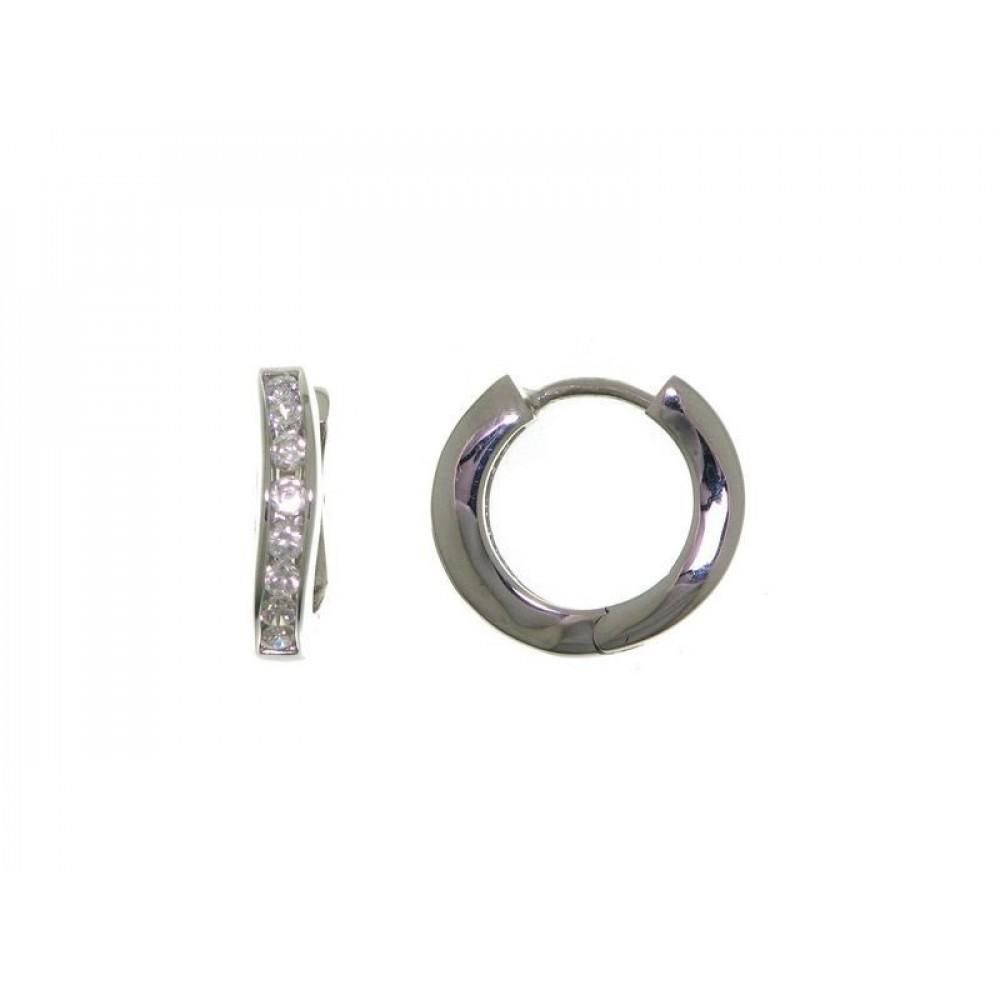 Zilveren creolen met zirkonia 27-1660-080