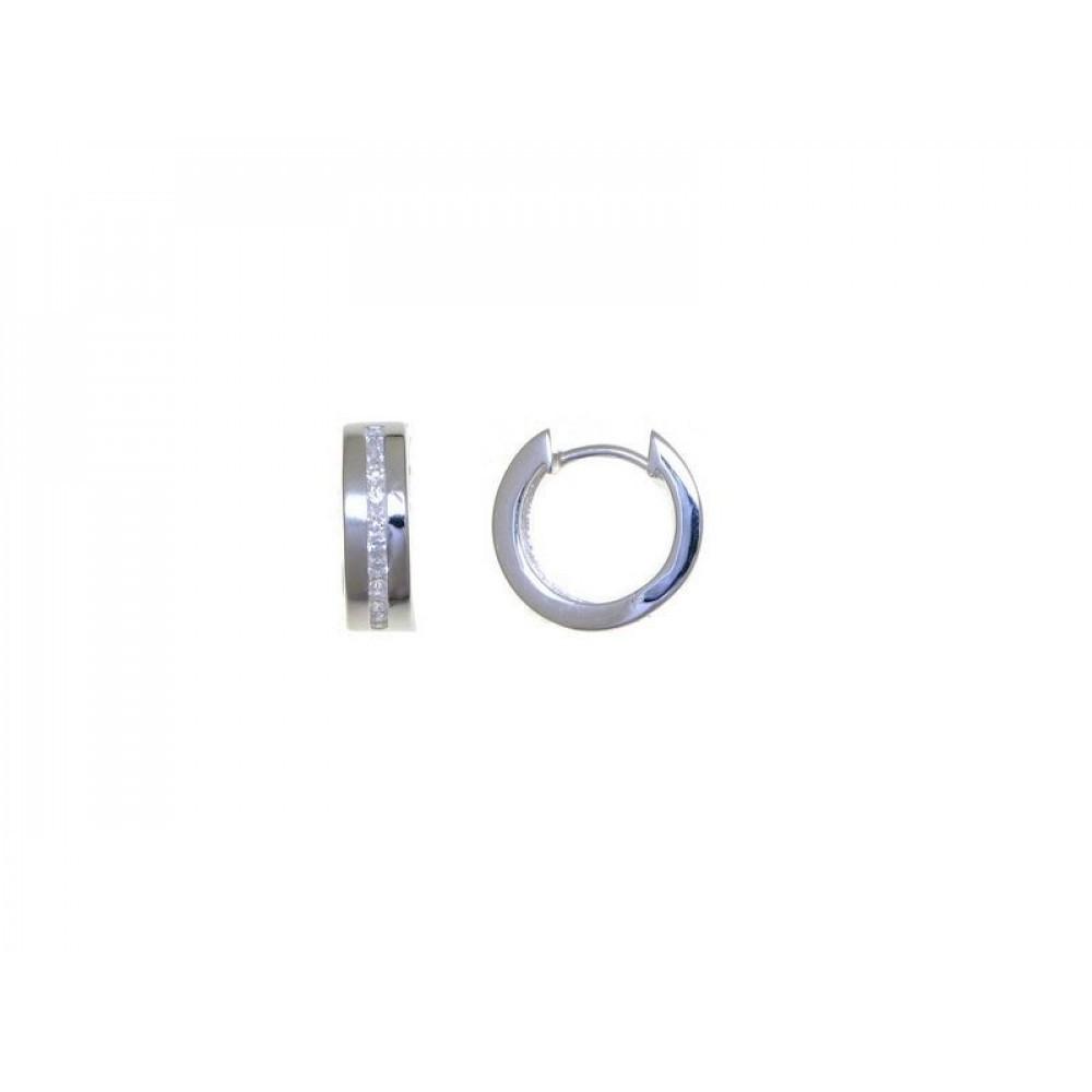 Zilveren creolen met zirkonia 27-2786-7081