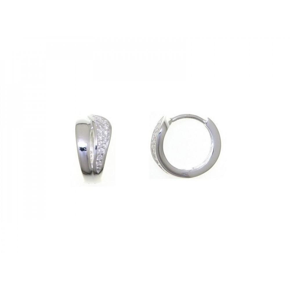 Zilveren creolen met zirkonia 27-2896-7080