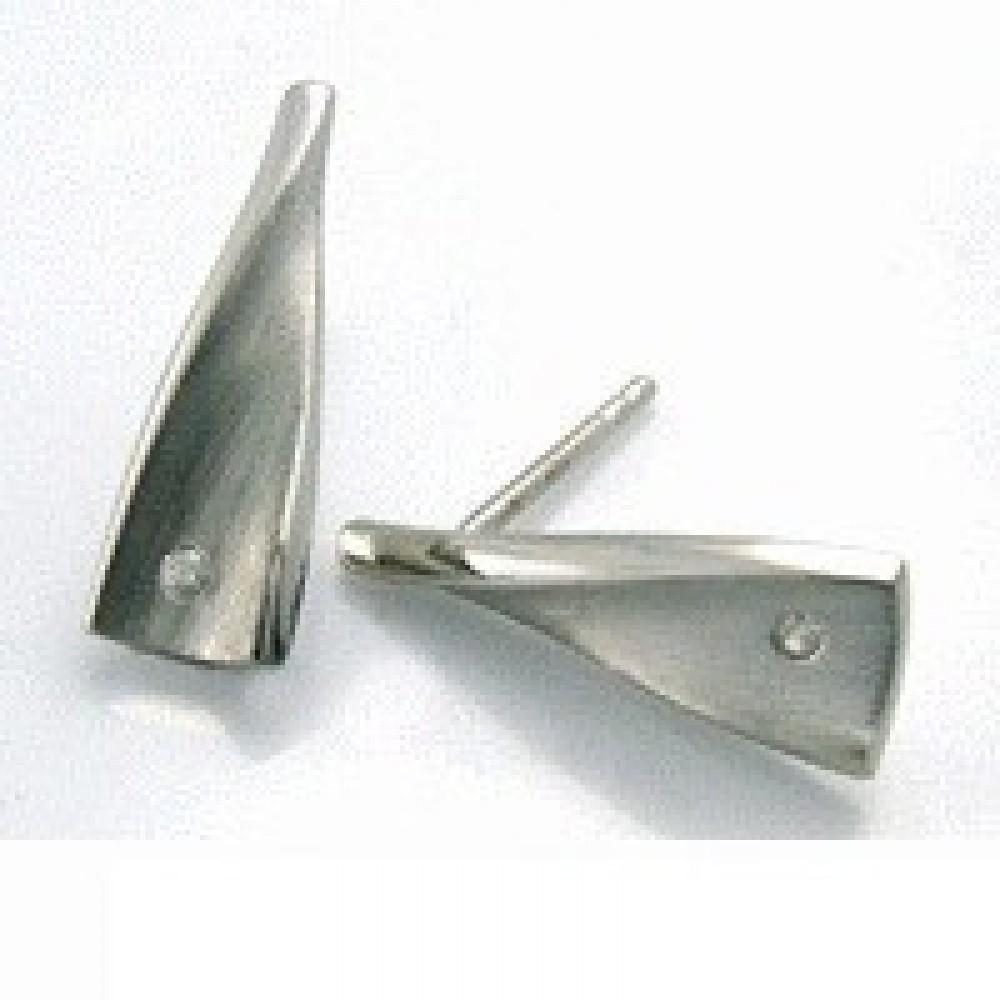 Zilveren oorknoppen met diamant ENC16037001