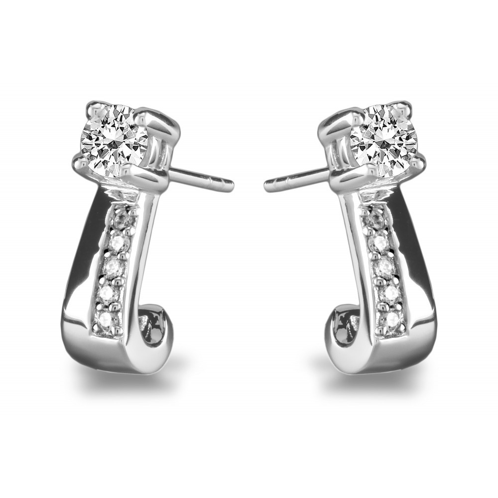 Zilveren oorknoppen met zirkonia 1062168E