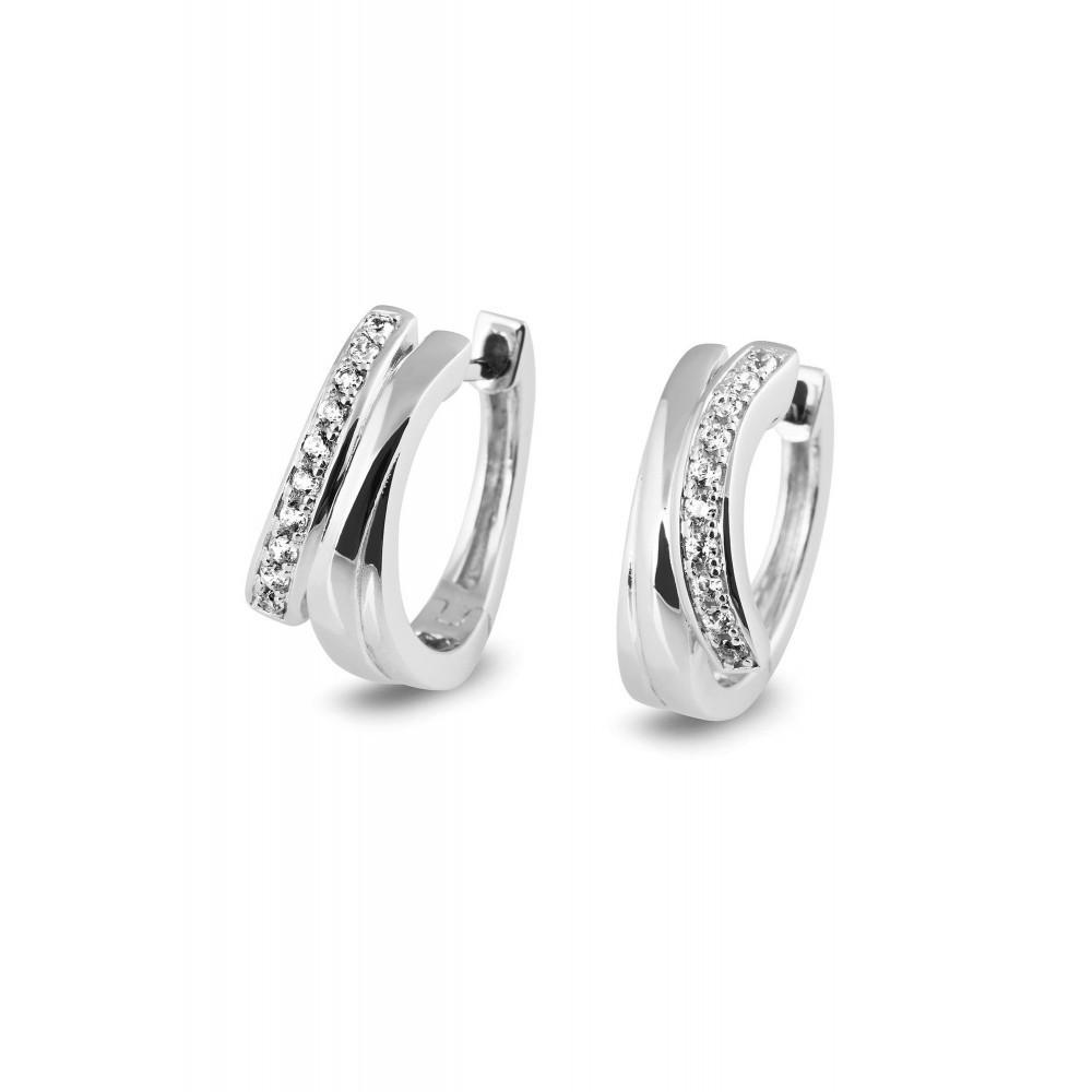 Zilveren creolen met zirkonia 53822E002B