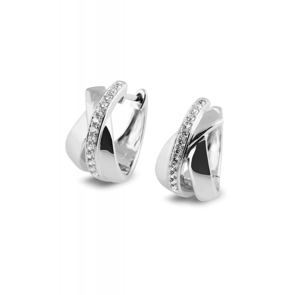 Zilveren creolen met zirkonia 53825E002B
