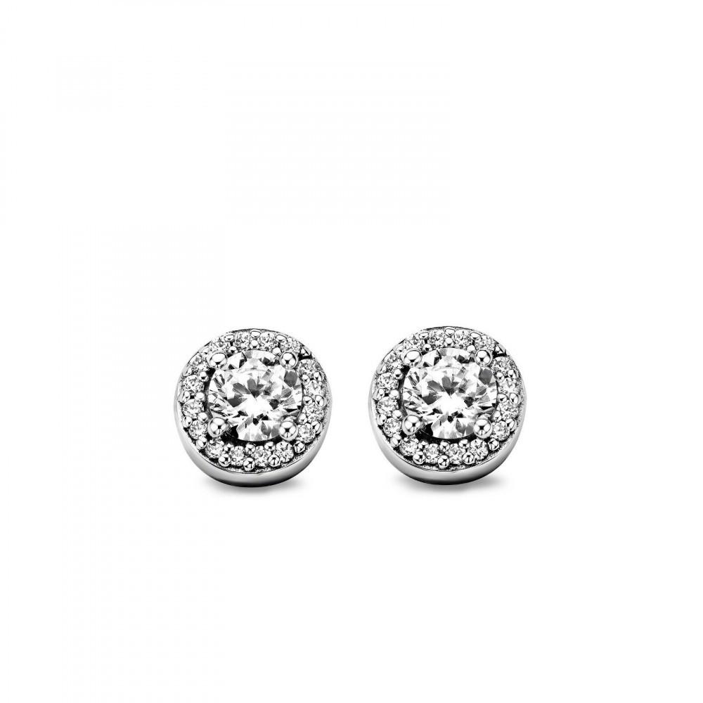 Zilveren oorknoppen met zirkonia 7613ZI
