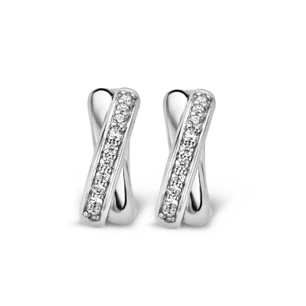 Zilveren creolen met zirkonia 7667ZI