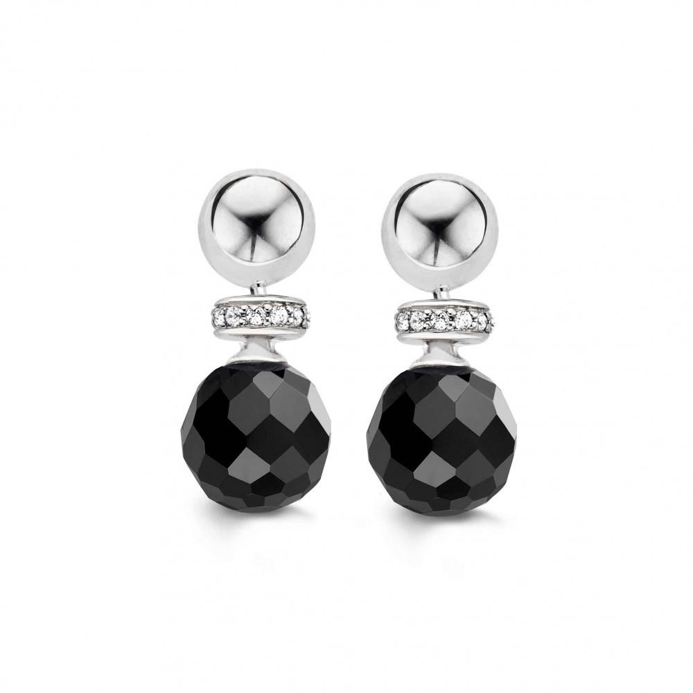 Zilveren oorhangers met zirkonia 7680OZ