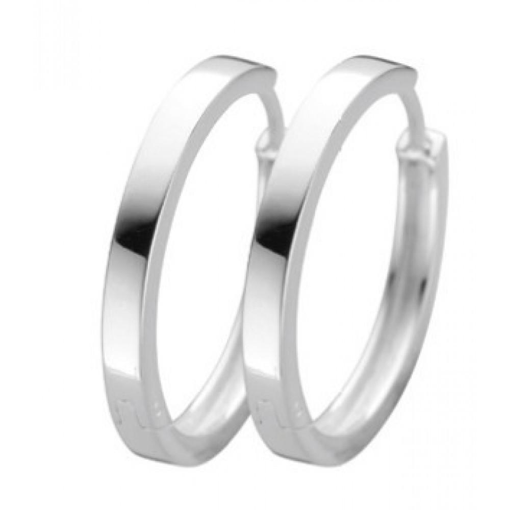 Zilveren klapcreolen 24mm 619788010