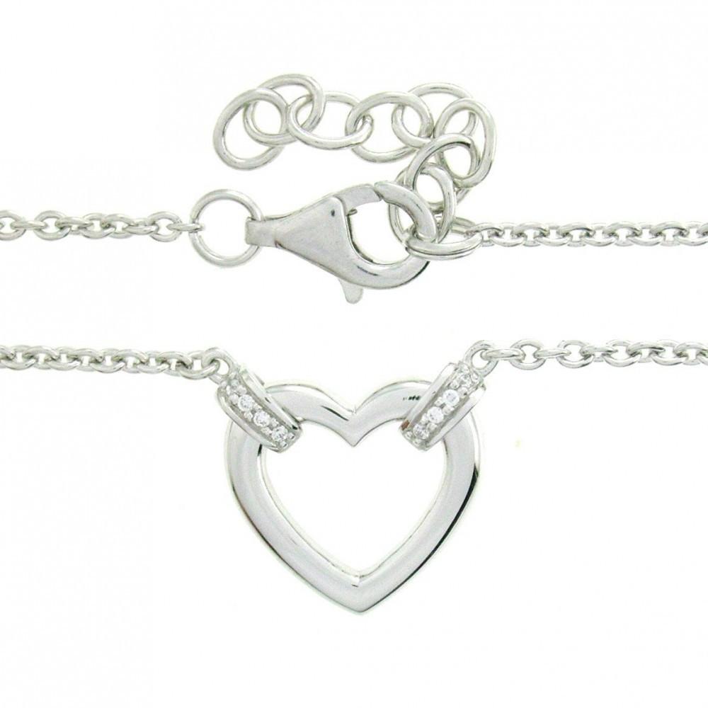 Zilveren dames collier met zirkonia TCS57352-03