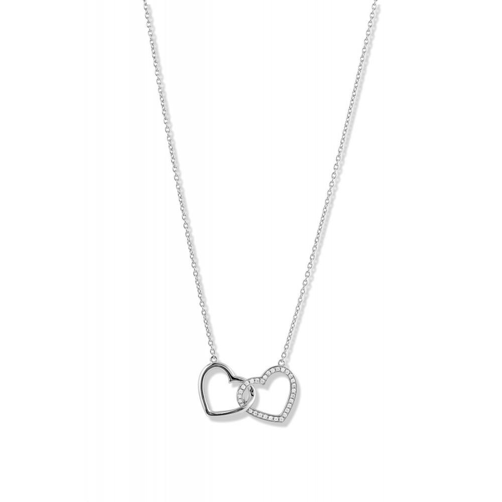 Zilveren dames collier met zirkonia TCS60023-01