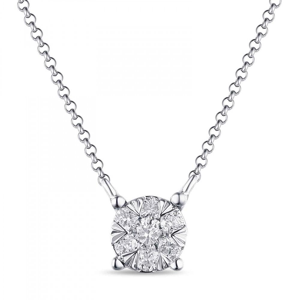 Witgouden dames collier met diamant 1851358DXD