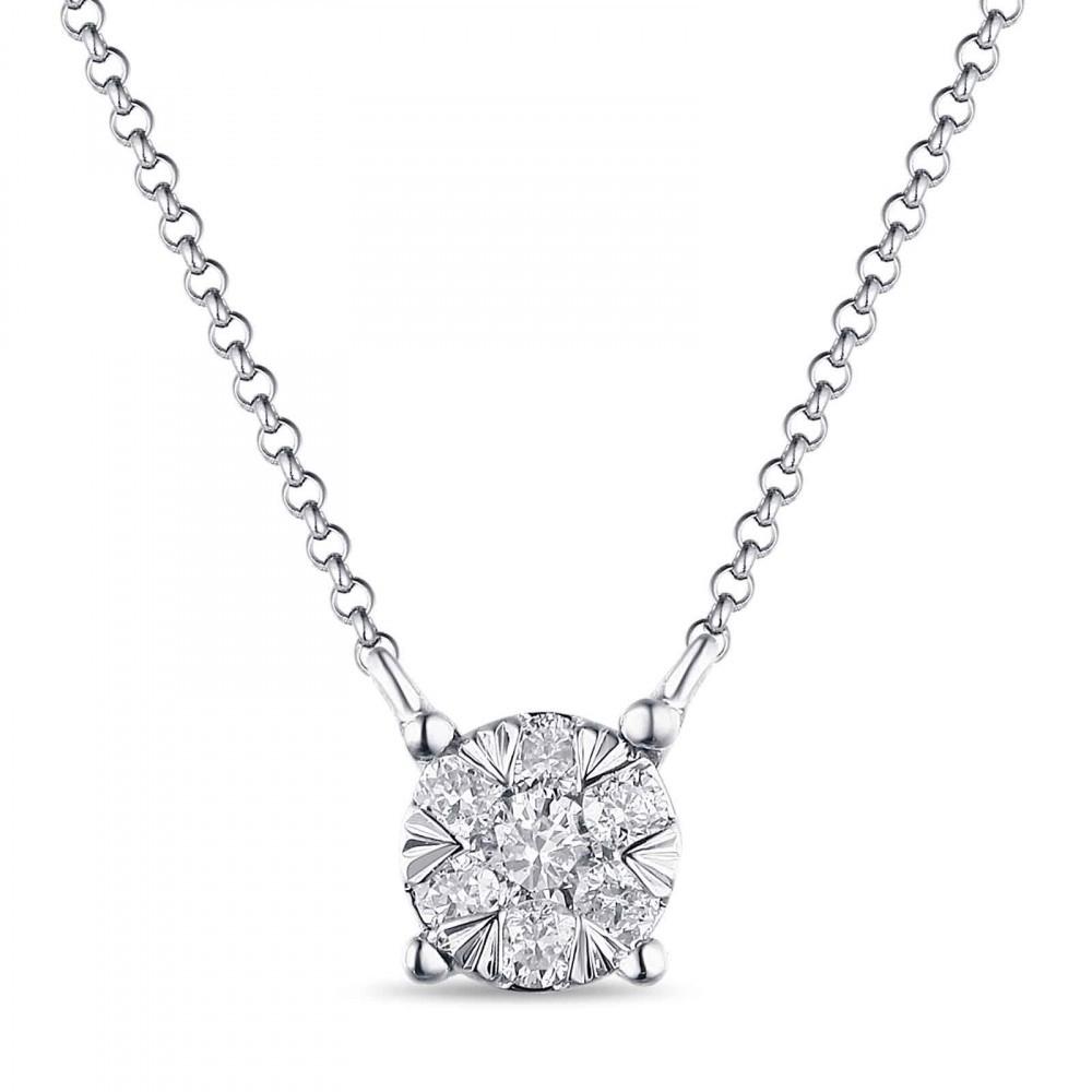 Witgouden dames collier met diamant 1851359DXD