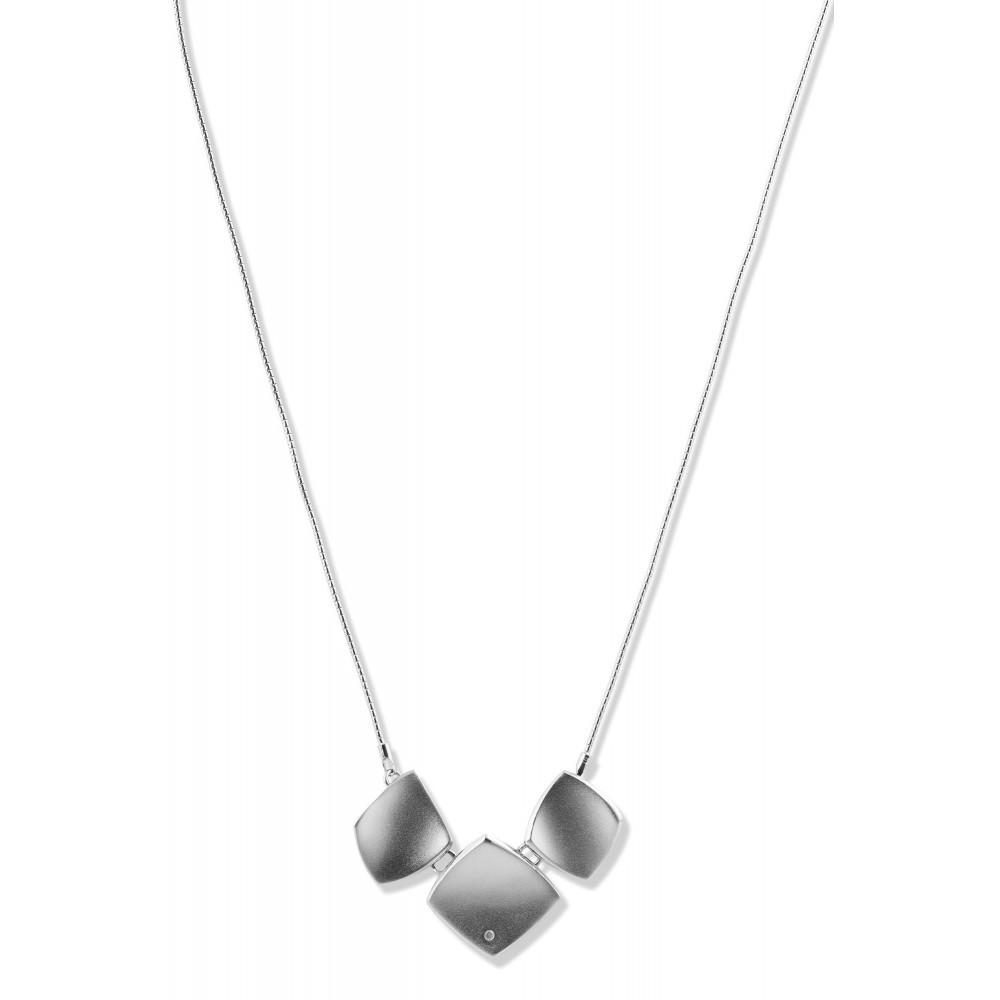 Zilveren collier met diamant NNC16746003