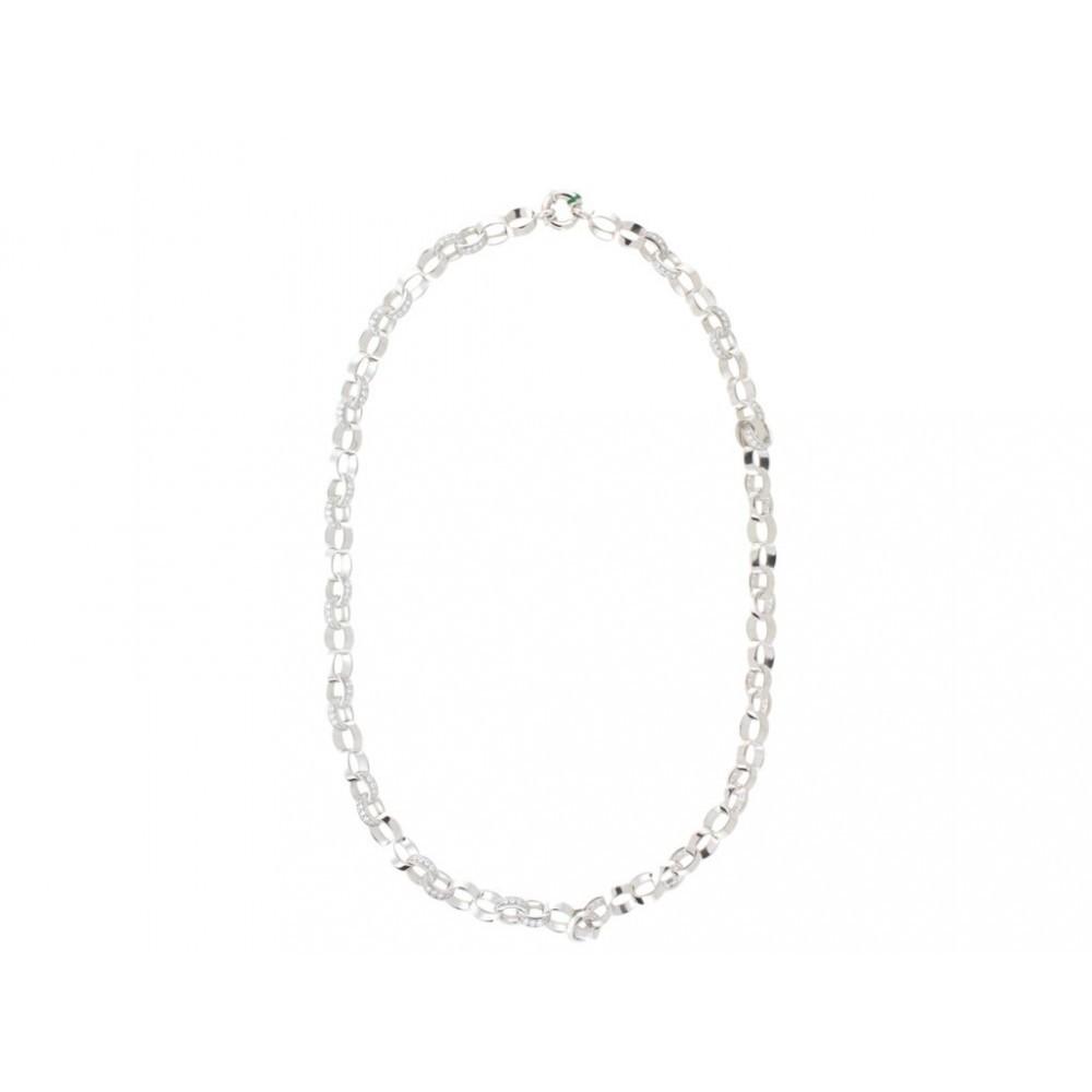 Zilveren dames fantasie collier 621210023