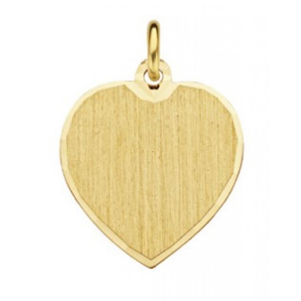 Gouden graveerplaatje hart 514650012