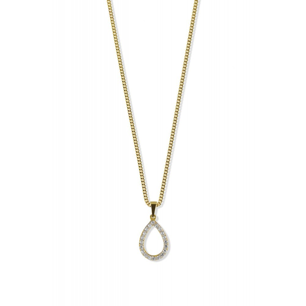 Bicolor gouden hanger met zirkonia PSM0196