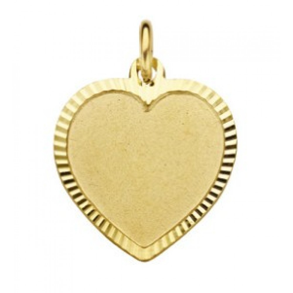 Gouden hanger hart LB0003