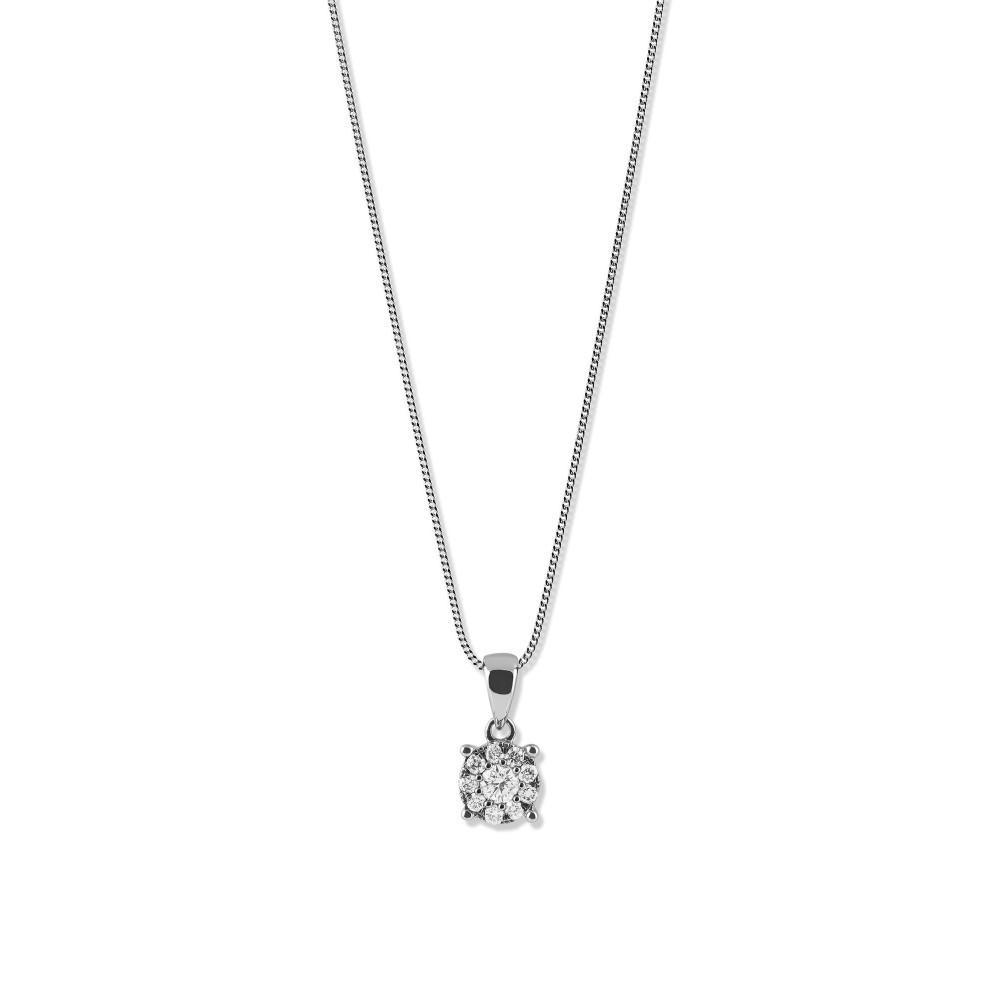 Witgouden hanger met diamant 07079PF0015