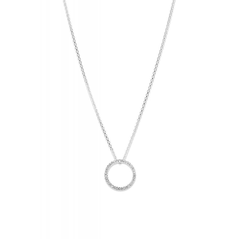 Witgouden hanger met diamant 196750DD