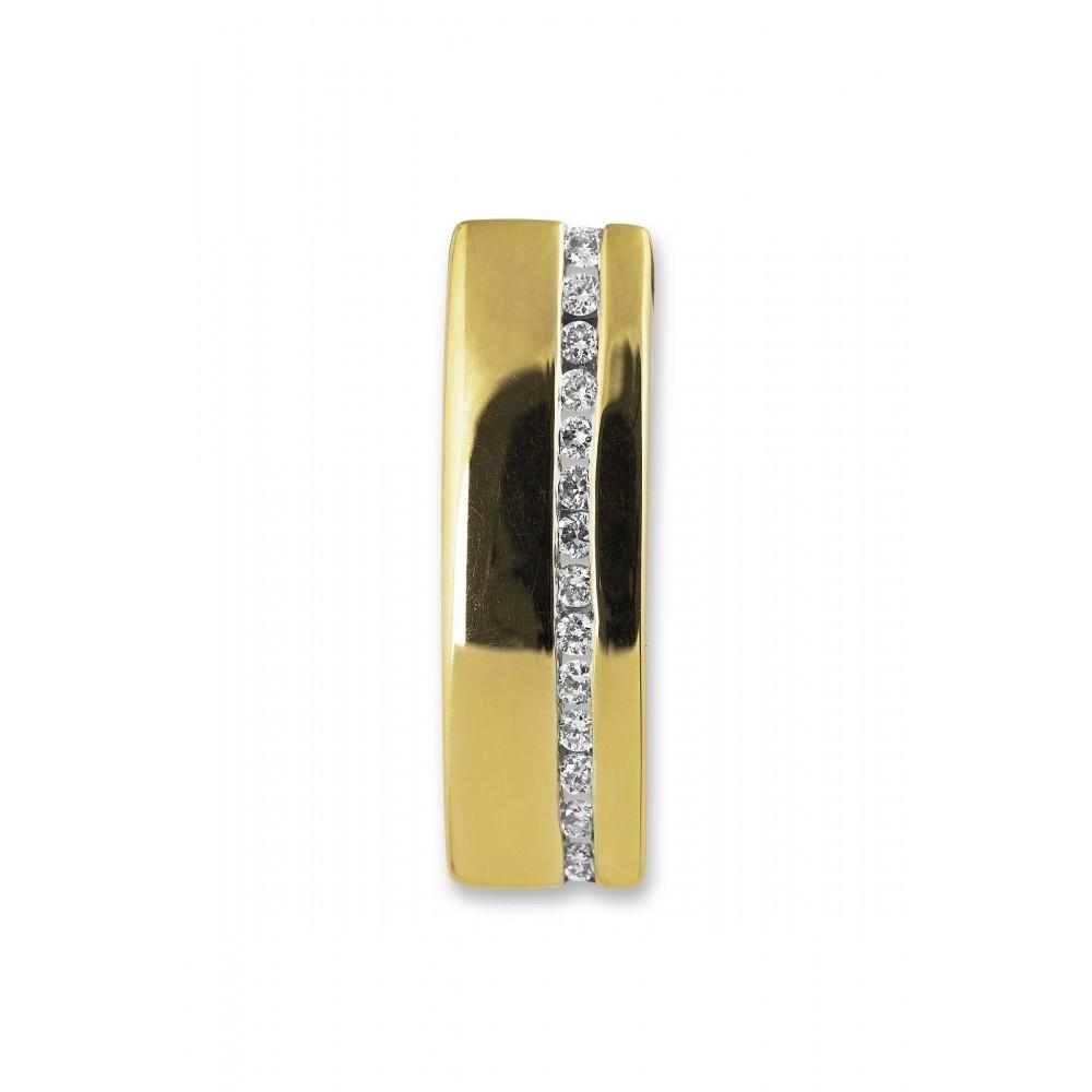 Geelgouden hanger 0,10crt PD13579