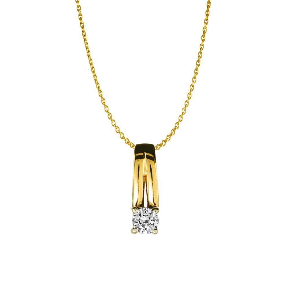 Gouden bicolor hanger 0,04crt SOL-M934-005-G2