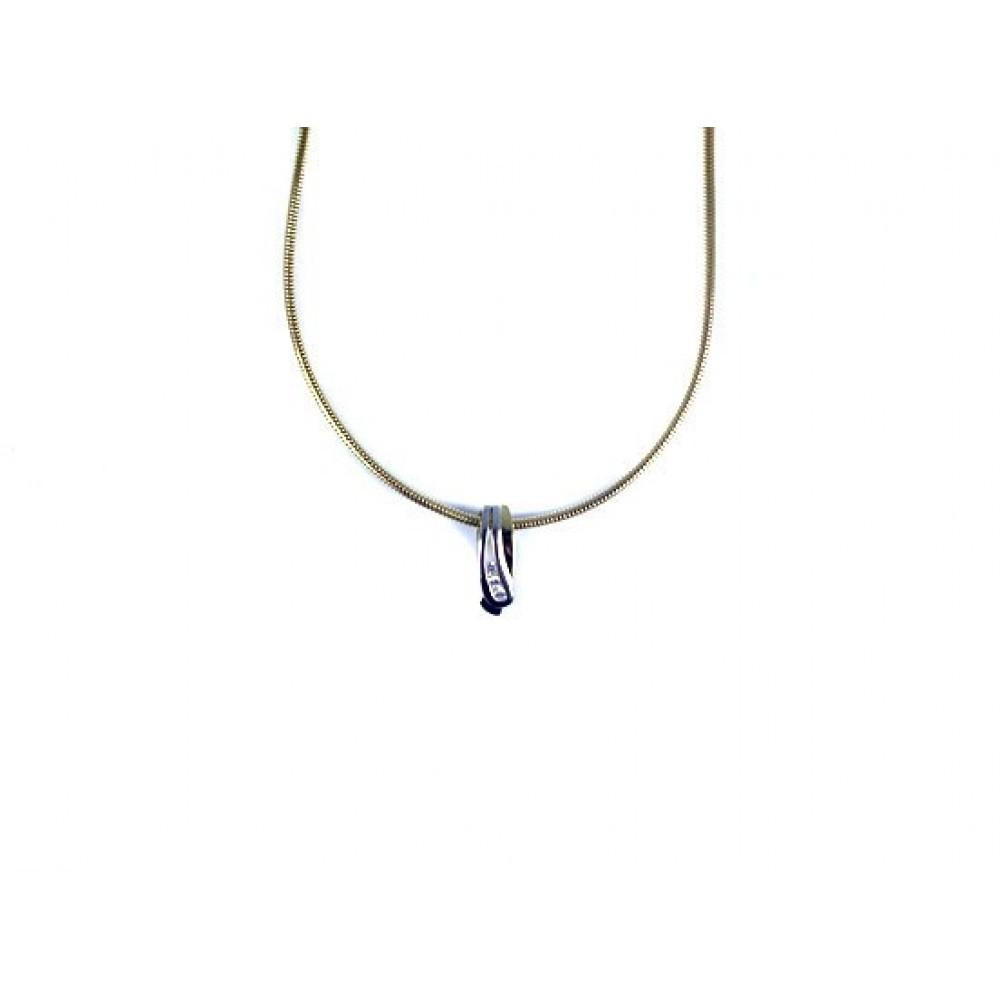 Bicolor hanger met zirkonia 503571014