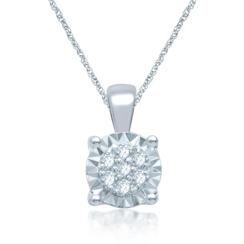 Witgouden hanger met diamant CQMOD178343-G