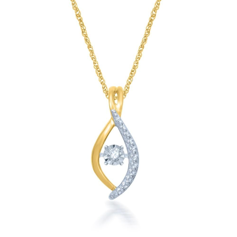 Geelgouden hanger met diamant GSMOD186230-G