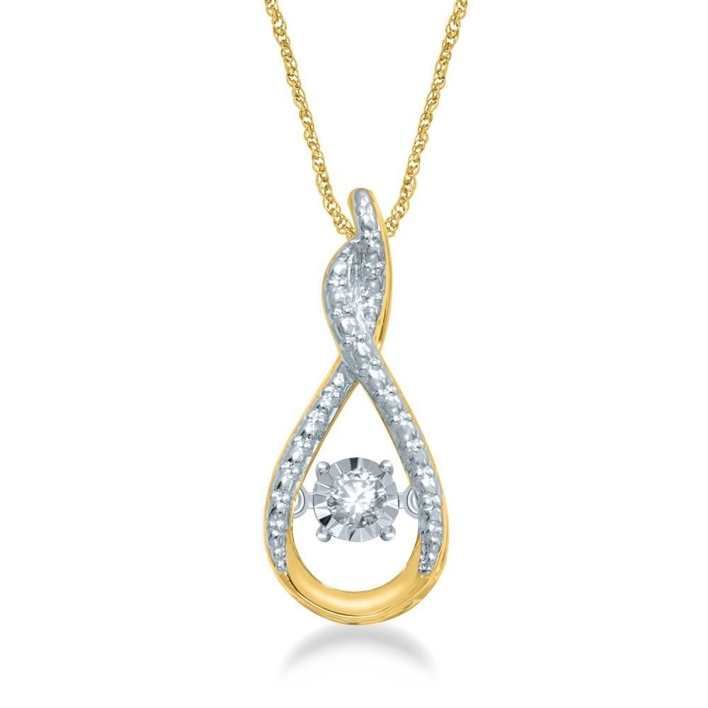 Geelgouden hanger met diamant GSMOD186233-G
