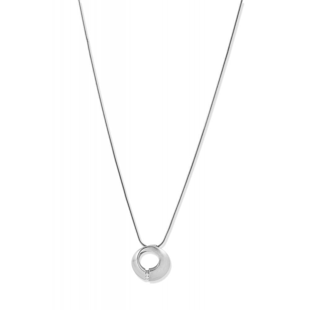 Zilveren dames hanger met diamant PNC16101001
