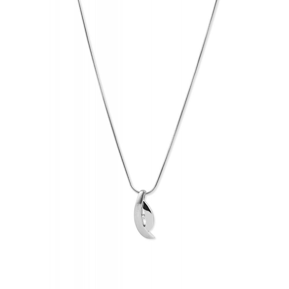 Zilveren dames hanger met diamant PNC9729001