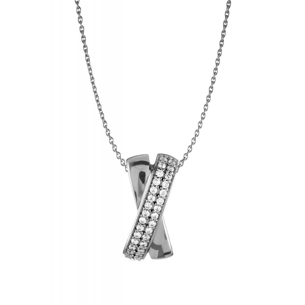 Zilveren dames hanger met zirkonia 1062162P
