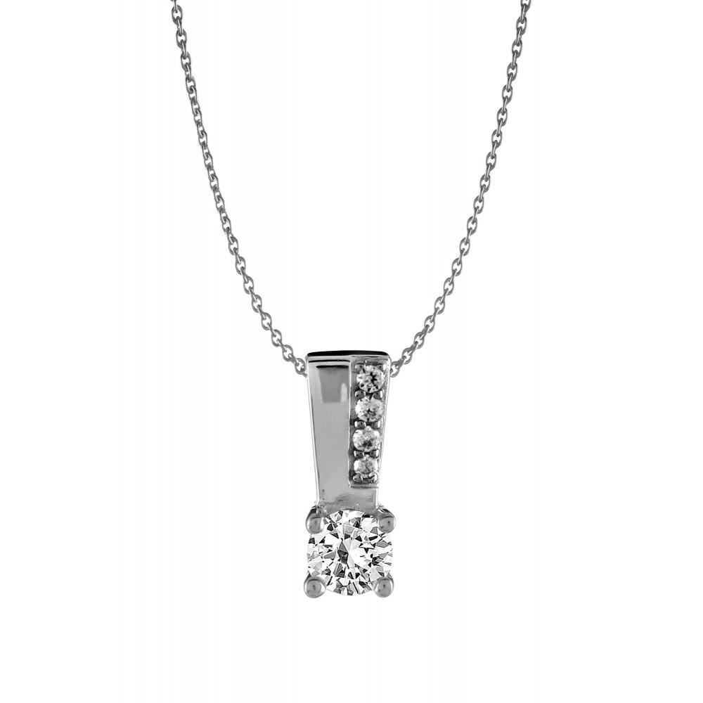 Zilveren dames hanger met zirkonia 1062168P