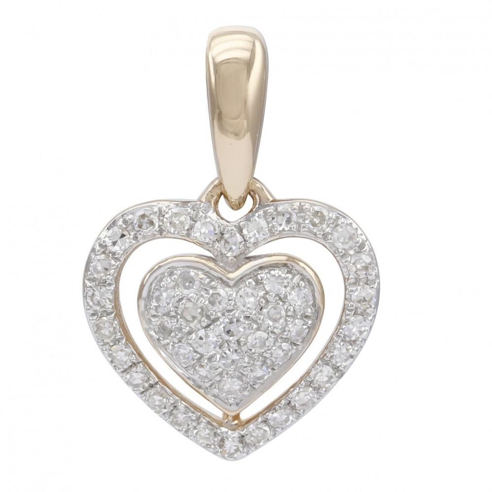 Witgouden hanger met diamant A010027-DDNP-MS