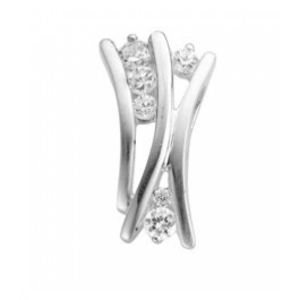 Zilveren dames fantasie hanger 613560044