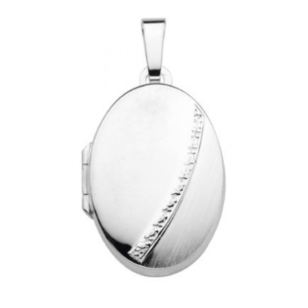 Zilveren medaillon hanger 23x17mm 614130002
