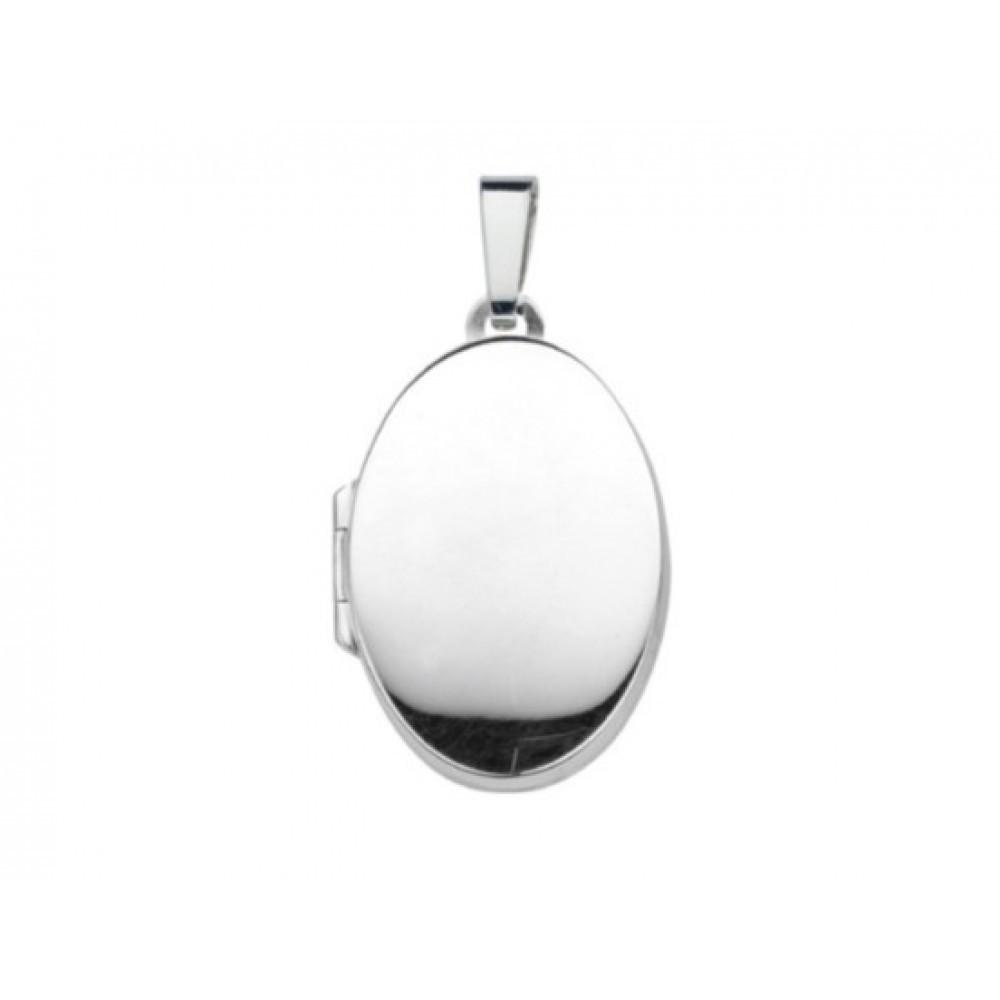 Zilveren medaillon hanger 23,5x16mm 614131000