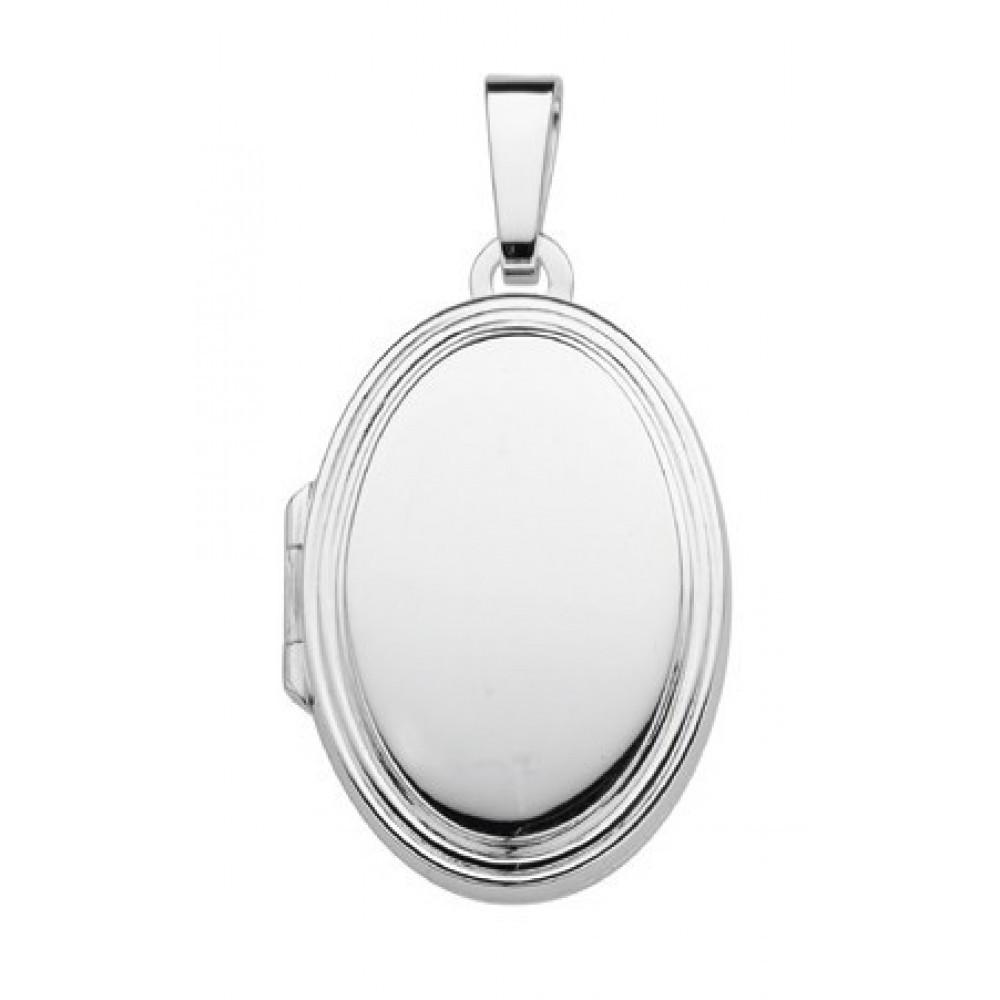 Zilveren medaillon hanger 23,5x16,5mm 614131006