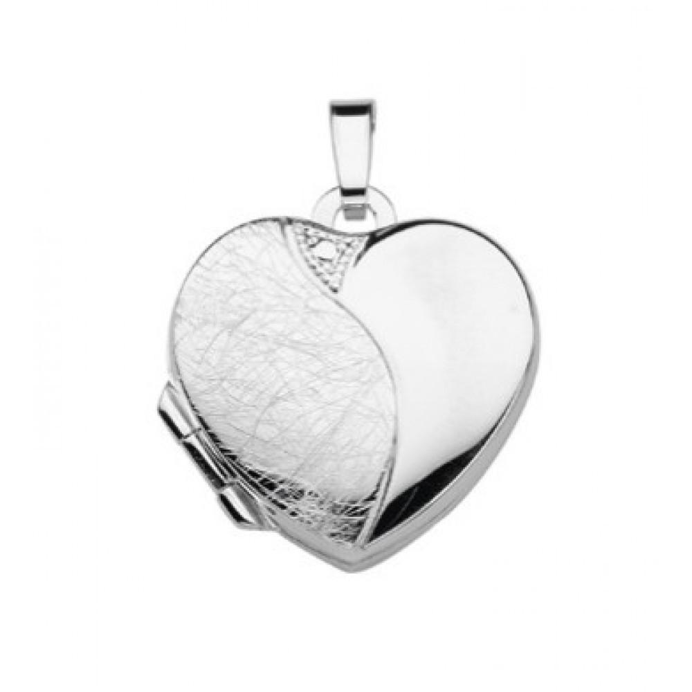 Zilveren dames medaillon hanger 17x17,5mm 614150001