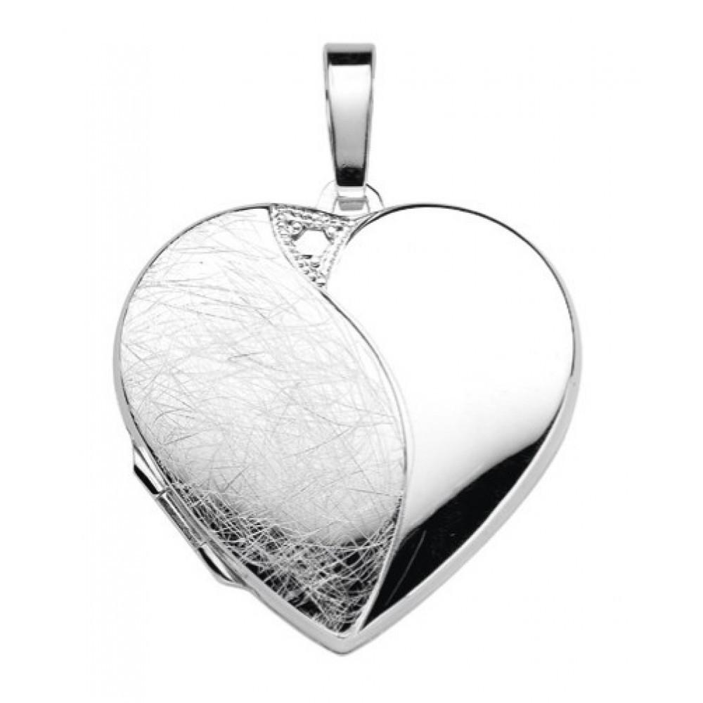 Zilveren dames medaillon hanger 28x29mm 614150002