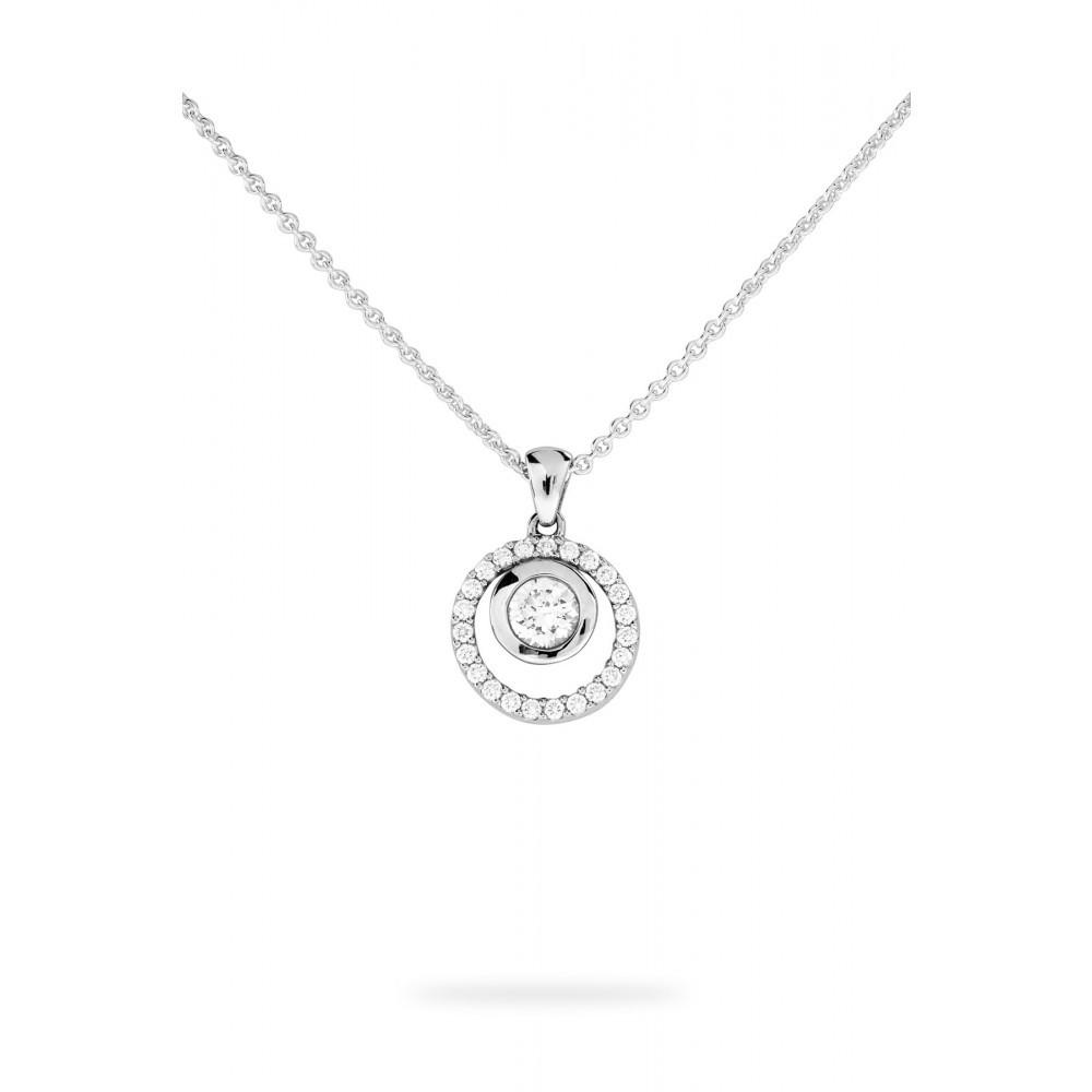 Zilveren zirkonia hanger 623562014